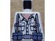 Part No: 973pb0133  Name: Torso Indiana Jones Open Collar Shirt, Ammo Belt & Suspenders Pattern
