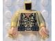 Part No: 973pb0133c01  Name: Torso Indiana Jones Open Collar Shirt, Ammo Belt & Suspenders Pattern / Tan Arms / Light Nougat Hands