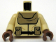 Part No: 973pb0608c01  Name: Torso SW Mon Calamari Officer Suit Pattern / Tan Arms / Reddish Brown Hands