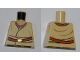 Part No: 973pb0978  Name: Torso SW Layered Shirt, Brown Belt with Gold Buckle Pattern
