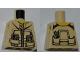 Part No: 973pb0991  Name: Torso Dino Jacket with Strap Collar, Zipper, Phone and GPS Pattern