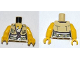 Part No: 973pb1017c01  Name: Torso Dino Shirt with Knot and Pockets, Belt and ID Tag Pattern / Yellow Arms / Yellow Hands