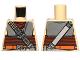 Part No: 973pb1225  Name: Torso Armor Plates, Reddish Brown Waist Sash and Ammunition Belt Pattern (SW Boushh)