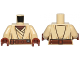 Part No: 973pb1257c01  Name: Torso SW Jedi Robe, Reddish Brown Undershirt and Belt Pattern (SW Agen Kolar) / Tan Arms / Reddish Brown Hands