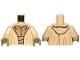 Part No: 973pb1432c01  Name: Torso SW Layered Shirt Yoda, Olive Green Neck Pattern / Tan Arms / Olive Green Hands