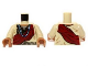 Part No: 973pb1458c01  Name: Torso Shirt with Indian Beaded Armor, Dark Red Wrap and Blue Necklace Pattern / Tan Arms / Medium Dark Flesh Hands