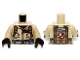 Part No: 973pb1697c01  Name: Torso Ghostbusters Jumpsuit with 'W.Z.' ID Badge and 'Winston' on Reverse Pattern / Tan Arms / Black Hands