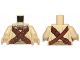 Part No: 973pb1988c01  Name: Torso SW Tusken Raider with Reddish Brown Crossed Belts with Pouches and Breathing Apparatus Pattern / Tan Arms / Tan Hands
