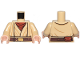 Part No: 973pb3679c01  Name: Torso SW Layered Shirt, Reddish Brown Undershirt, Reddish Brown Belt with Gold Buckle Pattern (SW Obi-Wan) / Tan Arms / Light Flesh Hands