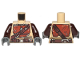 Part No: 973pb3688c01  Name: Torso SW Armor Reddish Brown Plates and Dark Brown Belts Pattern (The Mandalorian) / Dark Brown Arms / Dark Bluish Gray Hands