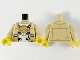 Part No: 973pb4170c01  Name: Torso Tang Jacket Open and Monkie Kid Shirt Pattern / Tan Arms / Yellow Hands