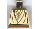 Part No: 973px145  Name: Torso SW Layered Shirt, Brown Belt and Padawan Braid Pattern (Obi-Wan)