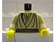 Part No: 973px145c01  Name: Torso SW Layered Shirt, Brown Belt and Padawan Braid Pattern (Obi-Wan) / Tan Arms / Yellow Hands