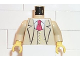 Part No: 973px172c01  Name: Torso Studios Suit Jacket with Vest and Red Tie Pattern (Gent) / Tan Arms / Yellow Hands