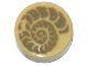 Part No: 98138pb025  Name: Tile, Round 1 x 1 with Ammonite Fossil Pattern