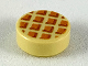 Part No: 98138pb107  Name: Tile, Round 1 x 1 with Waffle Pattern