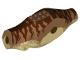 Part No: 98160c04pb01  Name: Dinosaur Body Tyrannosaurus rex with Medium Nougat Top with Dark Brown Stripes Pattern