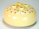 Part No: 98220pb04  Name: Duplo, Brick Round 4 x 4 Dome Top with 2 x 2 Studs and Dark Orange and White Seeds Pattern