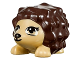 Part No: 98389pb02  Name: Hedgehog, Friends with Black Eyes, Eyelashes and Nose and Dark Brown Spines Pattern