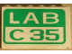 Part No: BA012pb07  Name: Stickered Assembly 6 x 1 x 3 with 'LAB C35' Pattern (Sticker) - Set 4851 - 3 Bricks 1 x 6