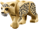 Part No: bb0787c01pb02  Name: Cat, Large (Leopard) with White Muzzle and Black Nose and Spots Pattern