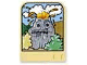 Part No: dupstr09  Name: Storybuilder Meet the Dinosaur Card with Rock with Face Pattern