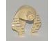 Part No: x177px2  Name: Minifigure, Headgear Headdress Mummy (Type 1) with Dark Gray Stripes Pattern