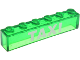 Part No: 3067pb07  Name: Brick 1 x 6 without Bottom Tubes with White 'TAXI' Pattern
