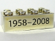 Part No: 3001pb034  Name: Brick 2 x 4 with Black '1958-2008' Text Pattern