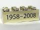 Part No: 3001pb034  Name: Brick 2 x 4 with Black '1958-2008' Text Pattern