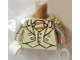 Part No: 973pb3173c01  Name: Torso Suit Jacket with Vest and Tie with Stripes Pattern (Mr. Gold) / Chrome Gold Arms / White Hands