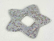 Part No: clikits268pb01  Name: Clikits, Icon Accent Plastic Star 3 1/4 x 3 1/4 with Holographic Grid of Squares Pattern