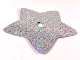 Part No: clikits275pb01  Name: Clikits, Icon Accent Plastic Star 8 1/2 x 8 1/2 with Holographic Grid of Squares Pattern