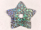 Part No: clikits285pb01  Name: Clikits, Icon Accent Plastic Star 6 3/8 x 6 3/8 with Holographic Grid of Squares Pattern