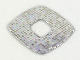 Part No: clikits290pb01  Name: Clikits, Icon Accent Plastic Square 3 x 3 with Holographic Grid of Squares Pattern