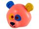 Part No: 15506pb02  Name: Minifigure, Headgear Mask Bear / Panda with Dark Azure and Bright Light Orange Ears and Eyepatches Pattern