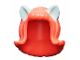 Part No: 20592pb03  Name: Minifigure, Hair Female Mid-Length Flipped Ends, Short Bangs, with Light Aqua Cat Ears Pattern