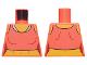 Part No: 973pb3864  Name: Torso Female Midriff Tank Top with White Neck Hem Pattern