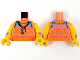 Part No: 973pb4232c01  Name: Torso Tank Top Whistle Necklace Pattern / Bright Light Orange Arms with Medium Lavender and Medium Azure Cuff and Triangles Pattern / Bright Light Orange Hands