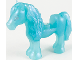Part No: 75498pb01  Name: Horse with 1 x 1 Cutout, Silver Eyes Pattern