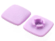 Part No: clikits015a  Name: Clikits, Icon Square 2 x 2 Small with Pin, Frosted (Solid and Transparent Colors)