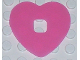 Part No: clikits163  Name: Clikits Icon Accent, Rubber Heart 4 x 4
