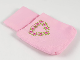 Part No: pouch09  Name: Belville Cloth Pouch, Child with Heart Wreath, Roses and Crown Pattern