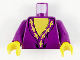 Part No: 973px149c01  Name: Torso Harry Potter Dumbledore Pattern / Purple Arms / Yellow Hands
