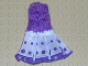 Part No: belvdress04  Name: Belville, Clothes Dress (Adult) Sleeveless Net Top, White Skirt with Purple Dots Pattern