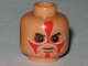 Part No: 3626bpb0377  Name: Minifigure, Head Face Paint with Red Paint and Sunken Eyes Pattern - Blocked Open Stud