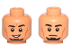 Part No: 3626cpb1111  Name: Minifigure, Head Dual Sided Male Black Eyebrows, Goatee, Cheek Lines, Smile / Neutral Pattern (SW Kanan Jarrus) - Hollow Stud