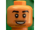Part No: 3626cpb1613  Name: Minifigure, Head Black Eyebrows, Chin and Moustache Stubble, White Pupils, Open Smile Pattern (Mesut Özil) - Hollow Stud