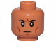 Part No: 3626cpb2651  Name: Minifigure, Head Black Eyebrows, White Pupils, Cheek Lines, Chin Dimple, Frown Pattern - Hollow Stud