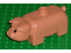 Part No: 4011type1pb01  Name: Duplo Pig Adult First Version Short with Black Eyes